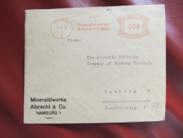 BRIEF Frankotype Freistempel HAMBURG Mineralölwerke Albrecht 1932 /// T2251 - Deutschland