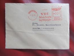 BRIEF Frankotype Freistempel BERLIN VDI 1939 // T2247 - Briefe U. Dokumente