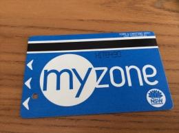 "Ticket de bus ""myzone"" NSW GOVERNMENT Sydney - AUSTRALIE"