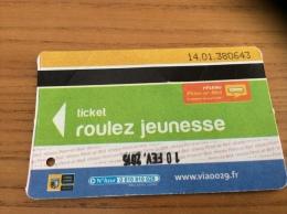 Ticket de Bus r�seau Penn-ar-Bed (roulez jeunesse) 2014 type 2