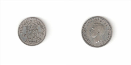 C  187014) SUD AFRICA SOUTH AFRICA SIX 6 PENCE 1939 GEORGIUS V° ARGENTO - Zuid-Afrika