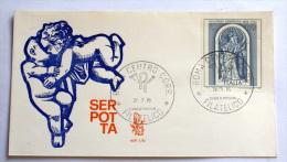 ITALIA 1976 - GIACOMO SERPOTTA LIRE 150 , VENETIA FDC - 6. 1946-.. Republic