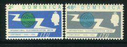 DOMINIQUE ( POSTE ) : Y&T N� 180/81 TIMBRES NEUFS AVEC TRACE DE CHARNIERE , A VOIR .