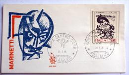 ITALIA 1976 - MARINETTI LIRE 150 , VENETIA FDC - 6. 1946-.. Repubblica