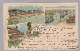 AK Afrika Aegypten Port Said 1899-03-02 Litho Fix & David - Port-Saïd