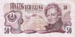 BILLETE DE AUSTRIA DE 50 SCHILLING DEL AÑO 1970 (BANKNOTE-BANK NOTE) - Austria