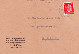 Lothringen DR Mi. 827 Auf Brief Gest. -  Ansehen!! - Occupation 1938-45