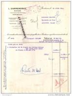 33 - 611 BORDEAUX GIRONDE 1954 Morues ( Islande &amp  terre Neuve ) L. DARMENDRAIL 1 rue Porte Portanets  Secherie �