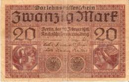 BILLETE DE ALEMANIA DE 20 MARK DEL AÑO 1918 (BANKNOTE-BANK NOTE) - [ 2] 1871-1918 : Imperio Alemán