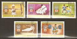 MONGOLIE   -   Tir à L' Arc  /  Judo  /  Boxe  /  Haltérophilie  /  Gym.     -   Oblitérés. - Estate 1976: Montreal