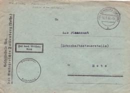 Lothringen Dienstbrief Gest. -  Ansehen!! - Occupation 1938-45