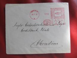 BRIEF Frankotype Freistempel BERLIN Danat 1932   /// T2285 - Deutschland