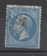 FRANCE - N°YT 22 OBLITERE - TACHE BLANCHE DEVANT LE NEZ - 1862 - COTE YT: 2.00€ - 1862 Napoléon III