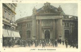 30 - CPA - PARIS - Bourse Du Commerce - Animée - 1904 - (couleur) - Pn2 - Autres Monuments, édifices