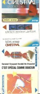TICKET TRANSPORT LOT DE  25 TICKETS  DE LA RTM MARSEILLE SANTE SIDA CINEMA PUBLICITE DIVERS
