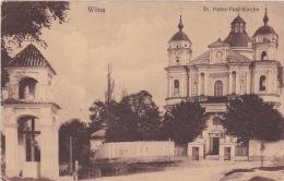 WW1 Wilna St. Peter Paul Kirche Vilnius Feldpost 1916 Stempel Bayr. E.K.K. 8