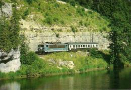 CPM LE RAIL USSELLOIS N° 139 BB 25674 Vallorbe Frasne Labergement Ste Marie 25 - Trenes