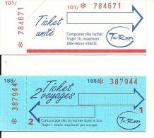TICKET TRANSPORT LOT DE 11 TICKETS  DIFFEREENTES COMPAGNIE TCRM METZ