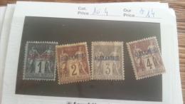 LOT 253915 TIMBRE DE COLONIE ALEXANDRIE NEUF* N�1 A 4 VALEUR 14 EUROS