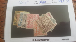 LOT 253992 TIMBRE DE COLONIE TUNISIE  NEUF* N�26 A 35 VALEUR 91 EUROS