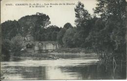 CPA CHAMPS-sur-MARNE 77, CHAMPS  - Les Bords De La Marne & Le Moulin (1917) - Other Municipalities