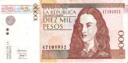 BILLETE DE COLOMBIA DE 10000 PESOS DEL AÑO 2010 (BANKNOTE) - Colombia