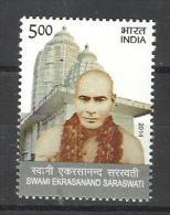 INDIA, 2014, Swami Ekrasanand Saraswati, Religion, Hinduism, Saint, MNH, (**) - Hinduism