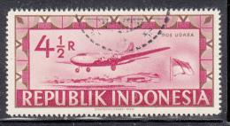 Indonesia Used Scott #C36 4 1/2r Airplane Taking Off - Indonésie