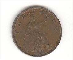 Farthing Grande Bretagne / U.K. 1933 Georges V TTB+ - B. 1 Farthing