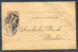 1906 Portugal Deutsche Bank Stationery - Berlin Germany Credit Franco Portugais Lisboa - Postal Stationery
