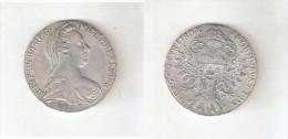 097001 B) REGNO D´ITALIA COLONIA ERITREA V. E. III° TALLERO DA CONVENZIONE DEL 1780 ARGENTO GR. 28,07 800/1000 - Colonies