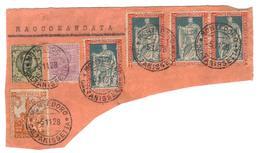 5 Nov 1928 - Frammento Di Raccomandata Da Montedoro - 1900-44 Vittorio Emanuele III