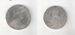 097003 B) REGNO D´ITALIA COLONIA ERITREA V. E. III° TALLERO DA CONVENZIONE DEL 1780 ARGENTO GR. 28,07 800/1000 - Colonies