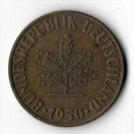 ALLEMAGNE  -  10 Pfennig 1950 F  (8) - 10 Pfennig