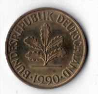 ALLEMAGNE  -  10 Pfennig 1990 D  (10) - 10 Pfennig