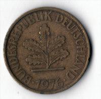 ALLEMAGNE  -  10 Pfennig 1976 G  (11) - 10 Pfennig