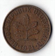 ALLEMAGNE  -  10 Pfennig 1971 G  (12) - 10 Pfennig