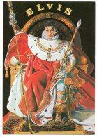 "ILLUSTRATEURS . ELVIS PRESLEY . "" THE KING "" PAR N. WILSON - Réf. N°1236 - - Chanteurs & Musiciens"