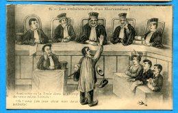 FR537, Les Embêtements D'un Morvandiau, Morvan, Nièvre, Juge, Tribunal, Sabots, Photographe, Circulée 1911 - Humour