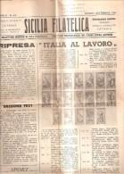 78558) GIORNALE-SICILIA FILATELICA DEL GIUGNO 1950 DIRETTORE DR. CIRINO CAPRA ANTONIO. - Pin's & Anstecknadeln