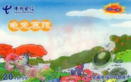 CARTE PREPAYEE CHINE  20+0,5  Le Lievre Et La Tortue  Rabbit Turtle  ******6 - China