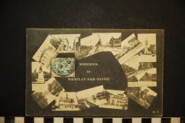 CP, 92, NEUILLY Sur SEINE Souvenir Multivues Voyagé En 1905 - Neuilly Sur Seine