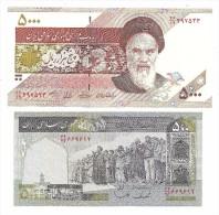 Persia Lot Of 2 UNC Banknotes 500 & 5000 Rials - Iran