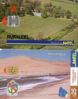 TELECARTES URUGUAY  ANTEL $10/$25   (lot De 2)  1******6 - Uruguay