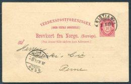 1903 Norway Kristiania Der Norsk Credit Bank Private Stationery - Bern Switzerland - Briefe U. Dokumente