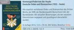 Orden Katalog 2014 Neu 20€ Ehrenzeichen 3.Reich DDR BRD Berlin Baden Bayern Saar Sachsen Catalogue Germany 1933-present - Kataloge & CDs