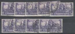 Italia 1931 - Accademia Navale 50 C. - Lotto Di 9 Esemplari      (g4830) - Vrac (max 999 Timbres)