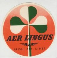 Aer Lingus Ireland Irish Airlines Sticker Label - Stickers