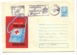Enveloppe Entier Postal - Roumanie - Croix-Rouge - Red Cross - 1974 - Postal Stationery