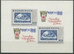 Ungarn 1965 WIPA`65 Marken Österrreich Block 47 B Postfr. Geschnitten (C92410) - Hojas Bloque